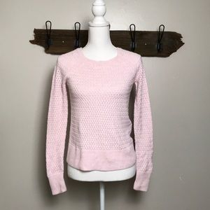 American Eagle Sweater Pink Open Knit